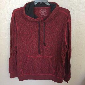 EUC AE Red Long Sleeve T-Shirt Hoodie XL